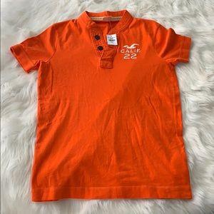Men's hollister t shirt orange size small